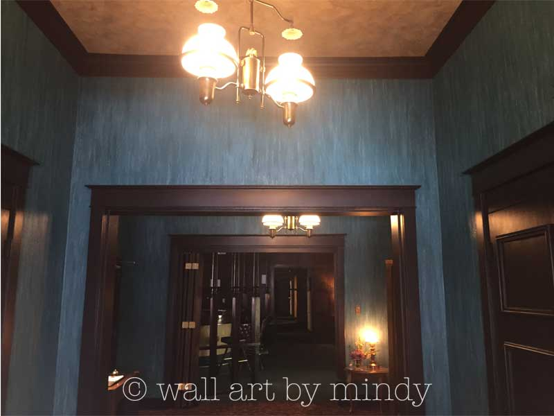 Hallway and ceiling decorative finishes